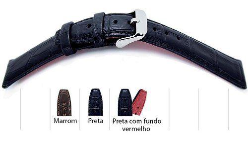 Pulseira De Couro Crocodilo Grain Stilli Premium Sc20020s