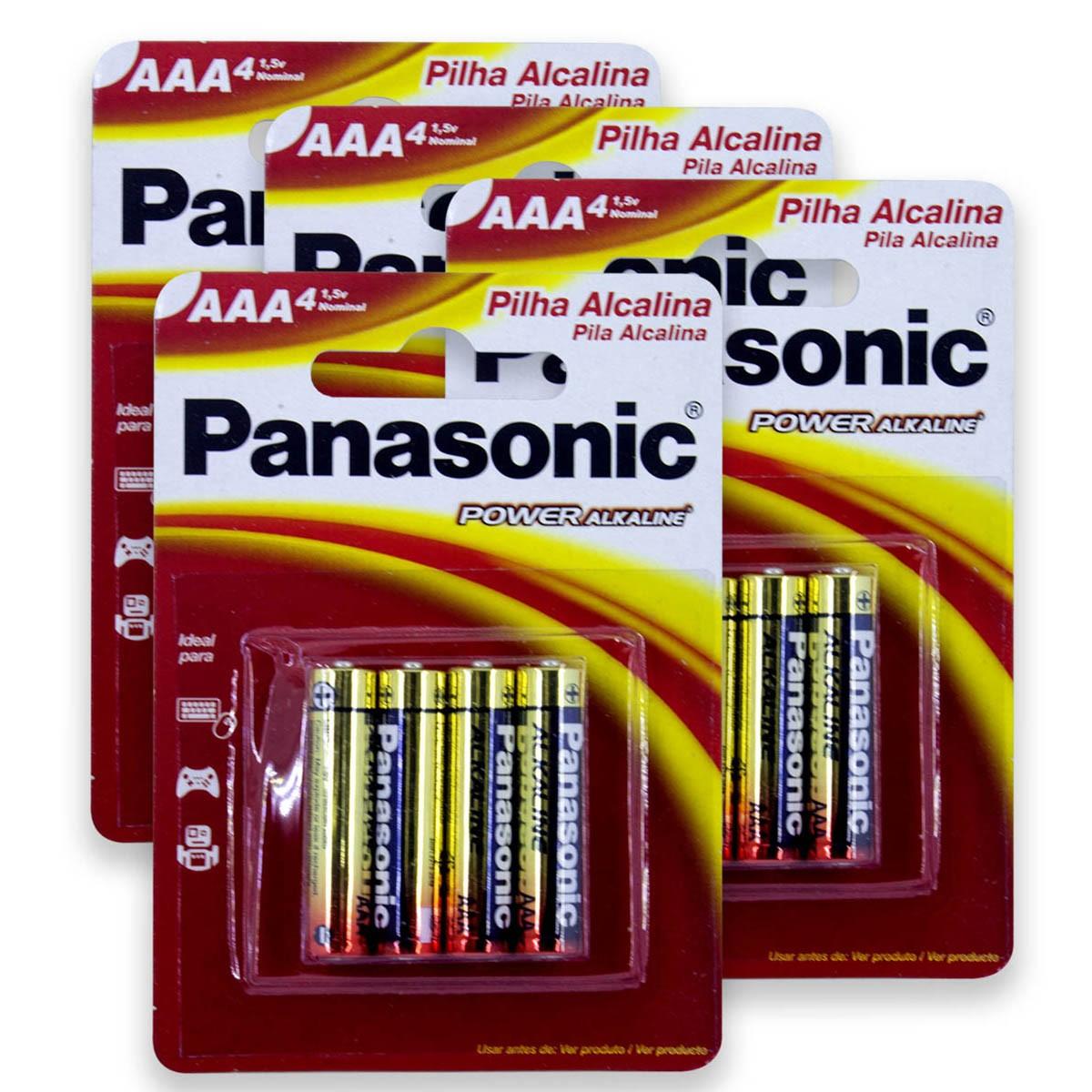 16 Pilhas AAA Alcalina PANASONIC 4 cartelas