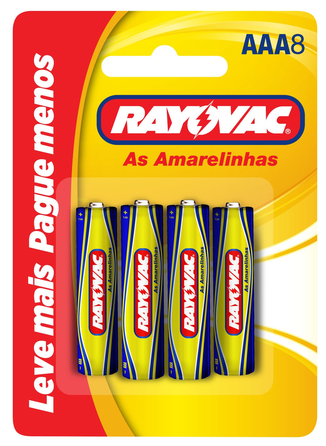 16 Pilhas AAA Zinco Carvão RAYOVAC 2 cartelas