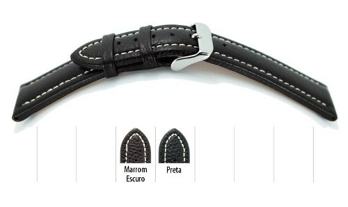 Pulseira De Couro Tipo Breitling Stilli Premium Sc20026s