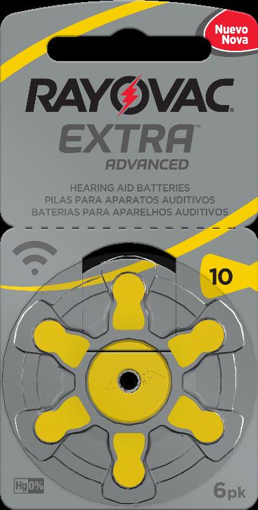 18 Pilhas baterias 10 PR70 Aparelho auditivo RAYOVAC