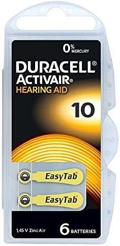 18 Pilhas Baterias DA 10 PR70 Aparelho Auditivo - Duracell