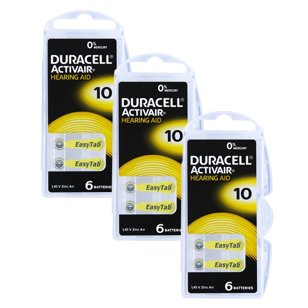 18 Pilhas DA10 DURACELL baterias PR70 Aparelho auditivo