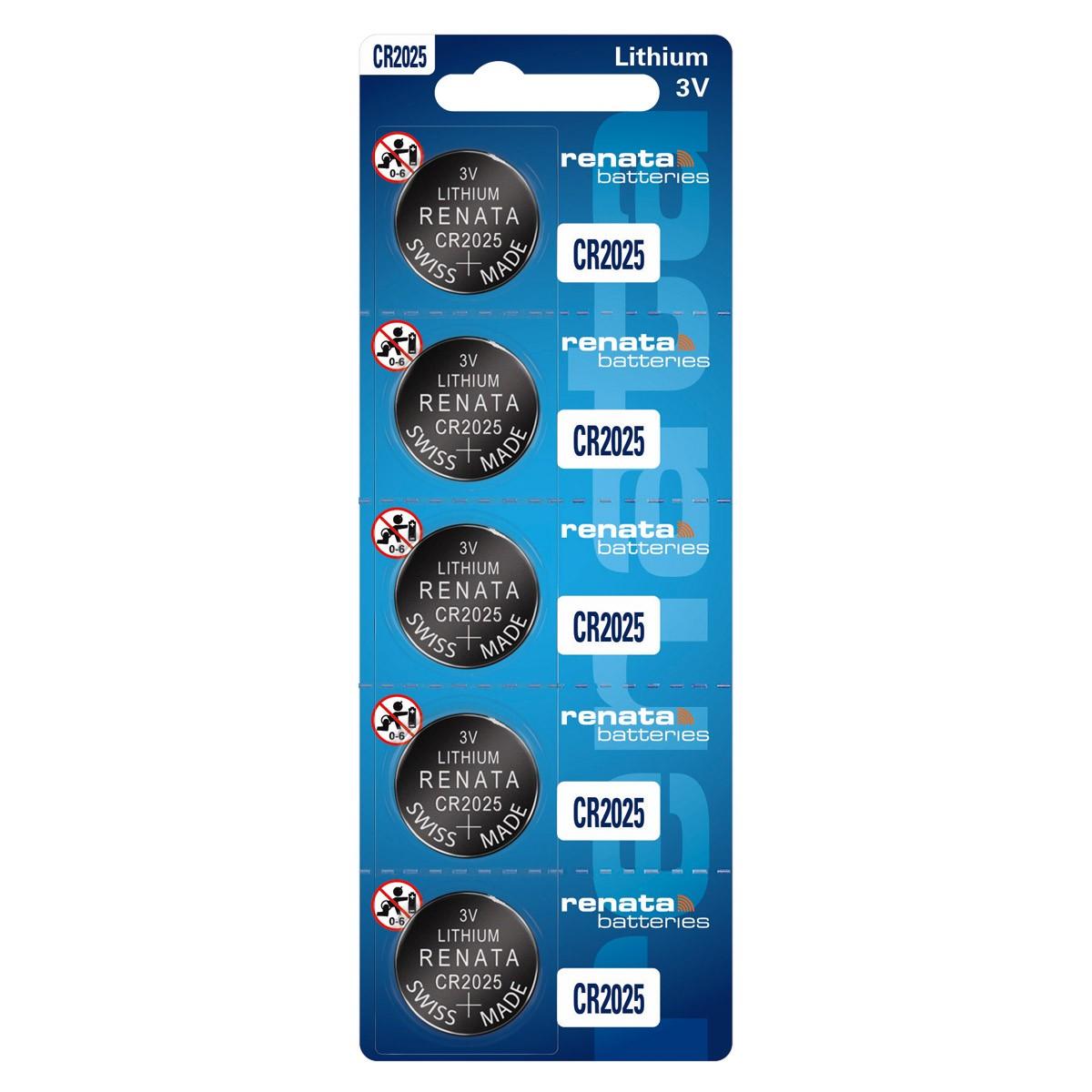 20 Baterias Pilhas Renata CR2025 4 cartelas