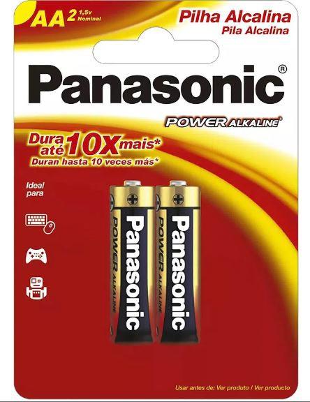20 Pilhas AA Alcalina PANASONIC 10 cart c/ 2 unid