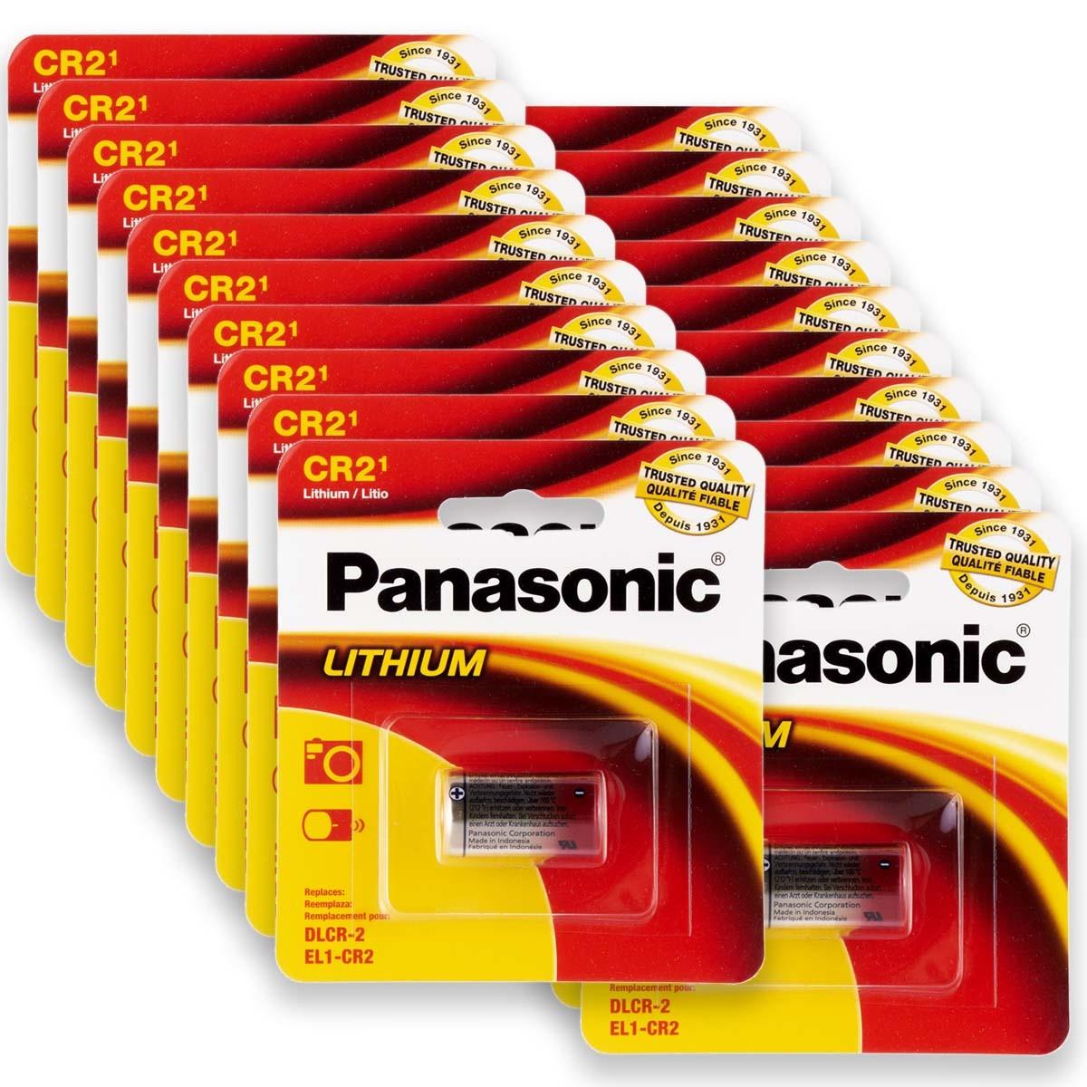 20 Pilhas PANASONIC CR2 3V Bateria 20 cartelas