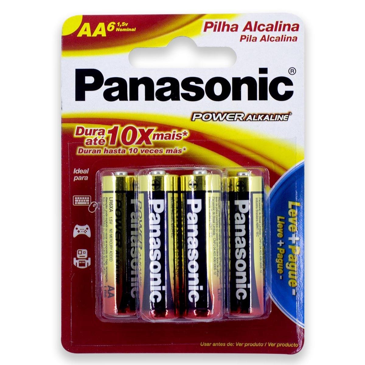 24 Pilhas AA Alcalina PANASONIC 4 cartelas