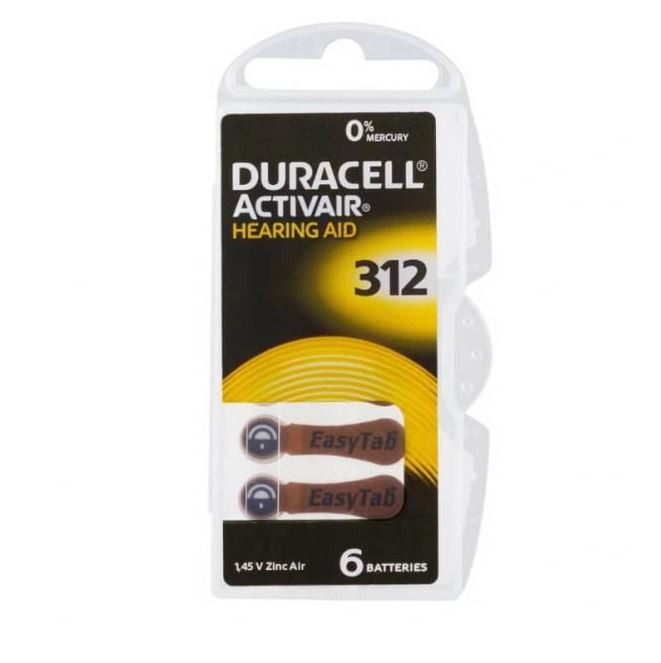 24 Pilhas Baterias DA 312 PR41 Aparelho Auditivo - Duracell