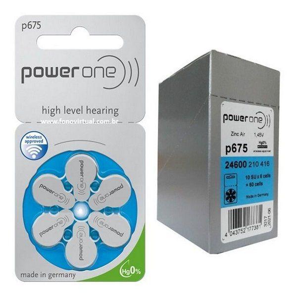 24 Pilhas Baterias P 675 PR44 Aparelho Auditivo - Power One