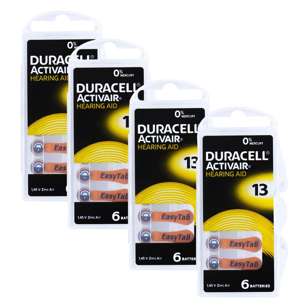 24 Pilhas DA13 DURACELL baterias PR48 Aparelho auditivo