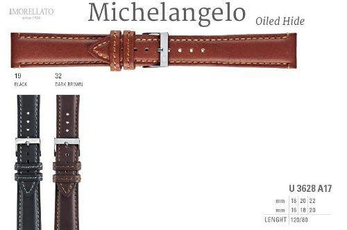 Pulseira De Couro Michelangelo Italiana Morellato U3628 A17