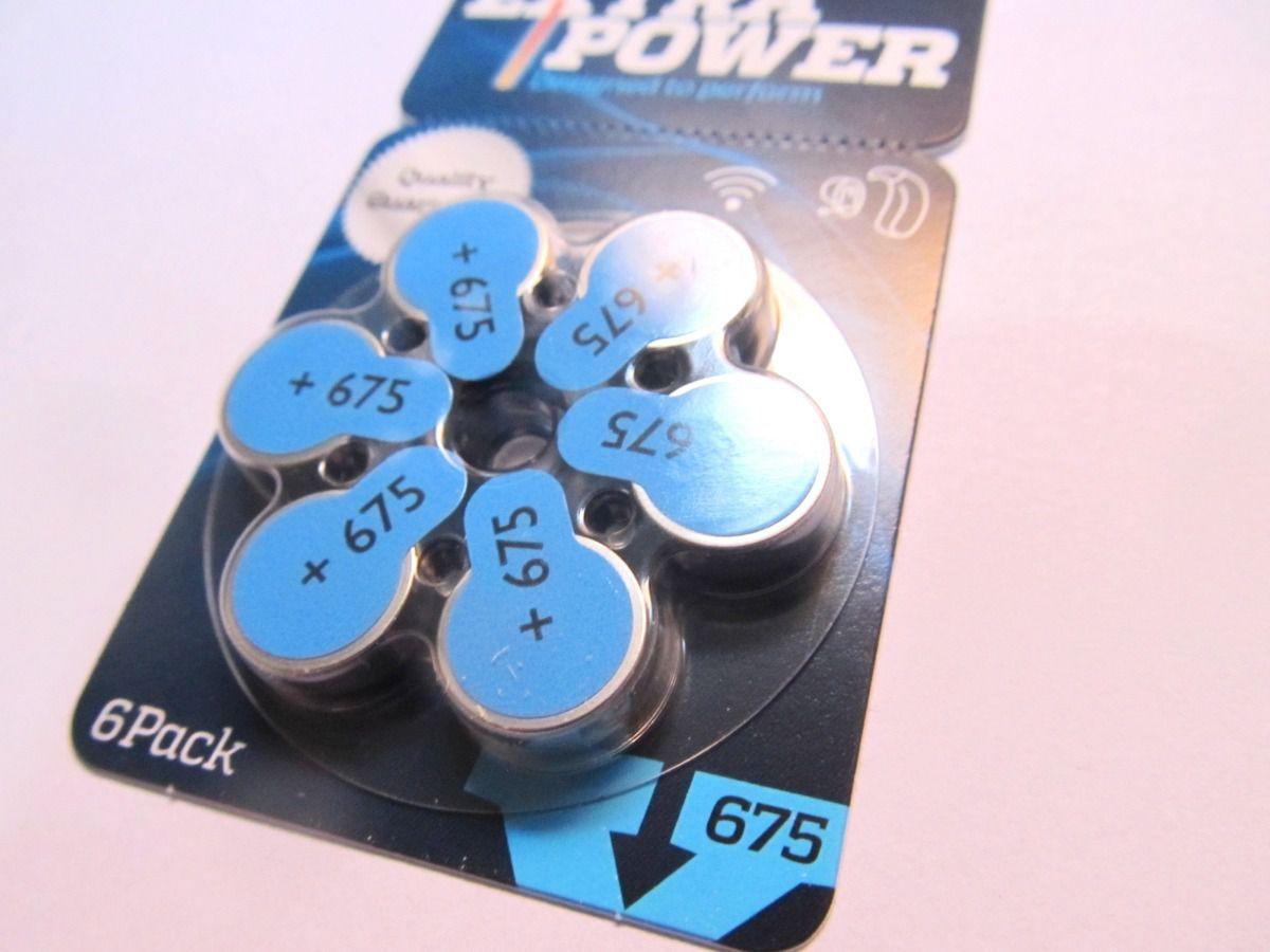 30 Pilhas baterias 675 PR44 Aparelho auditivo EXTRA POWER
