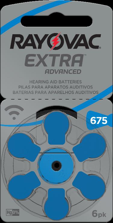 30 Pilhas baterias 675 PR44 Aparelho auditivo RAYOVAC