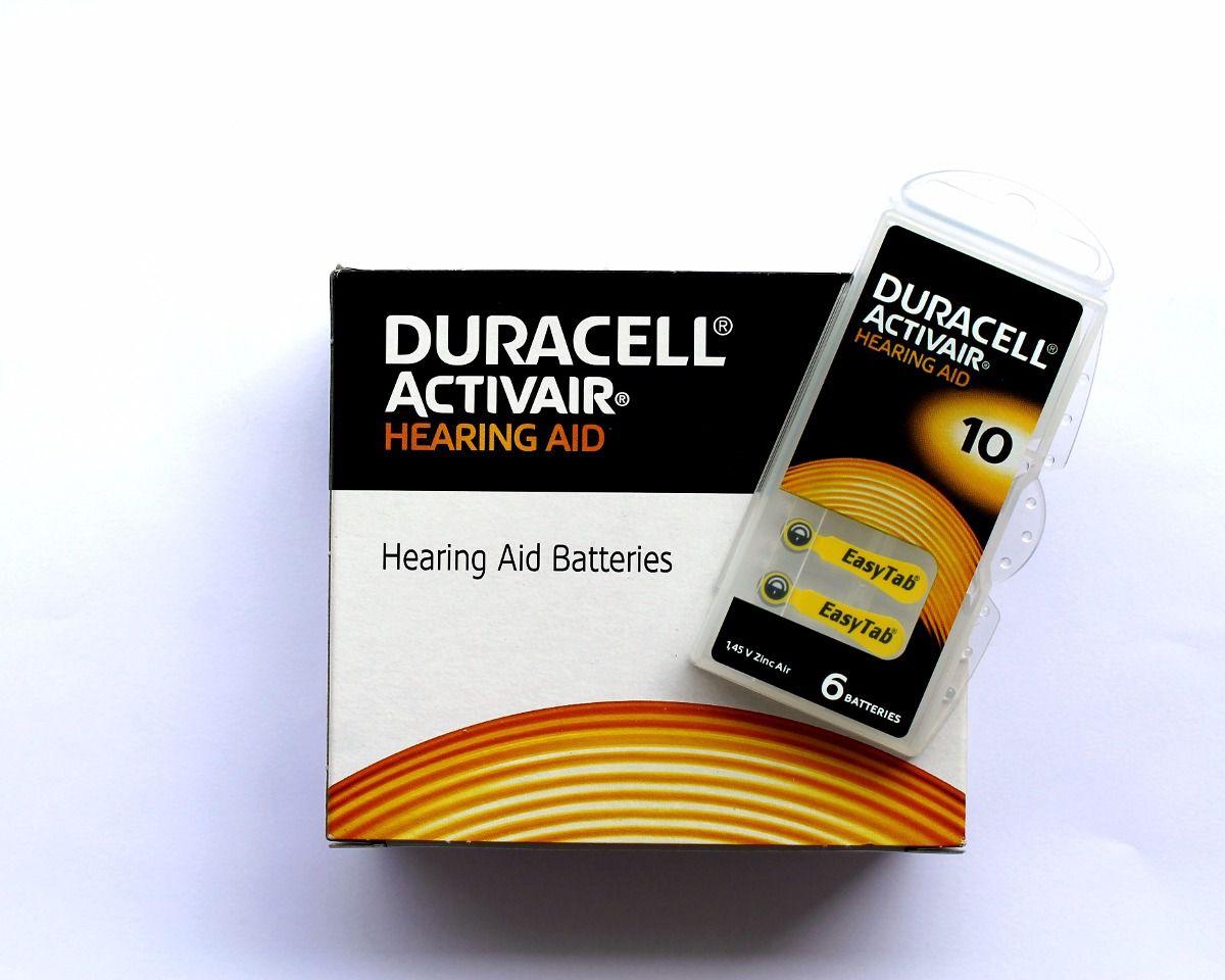 30 Pilhas Baterias DA 10 PR70 Aparelho Auditivo - Duracell