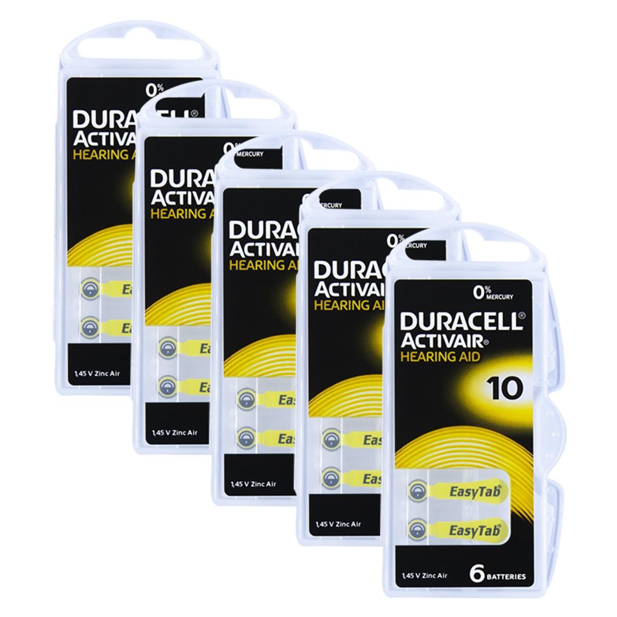 30 Pilhas DA10 DURACELL baterias PR70 Aparelho auditivo