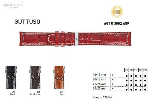 Pulseira Couro Guttuso Italiana Morellato Original U3882 A59
