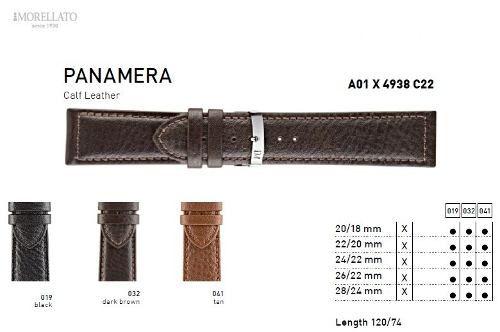 Pulseira Couro Panamera Italiana Morellato Origina X4938 C22
