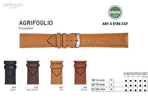 Pulseira Couro Agrifoglio Italiana Morellato Origi X5106 C47