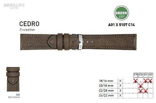 Pulseira Couro Cedro Italiana Morellato Original X5107 C14