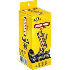 40 Pilhas AAA Zinco Carvão RAYOVAC 1 tubo