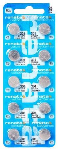 Pilha Bateria 301, Relógio 1.55v Renata Sr43sw Original 10 unid.
