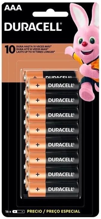 48 Pilhas DURACELL DURALOCK Alcalina AAA Embalagem C/16 Unids