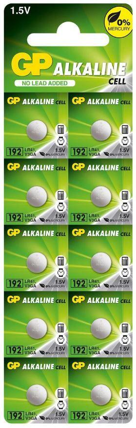 50 Pilhas Baterias LR41 192 Alcalina GP - 05 cartelas