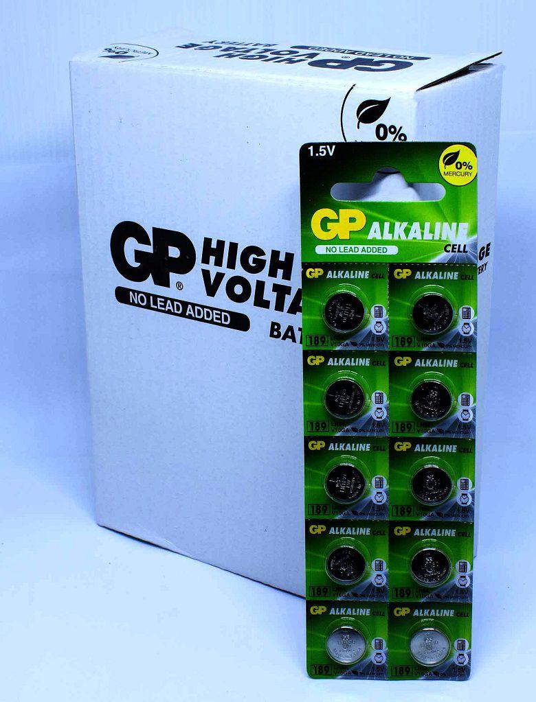 50 Pilhas GP SUPER LR1130 189 LR54 Bateria Alcalina 5 cartela