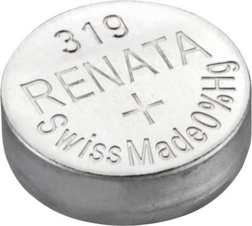 10 Pilha Bateria 319 Relógio 1.55v Renata Sr527s Original - 01 cartela com 10 unidades