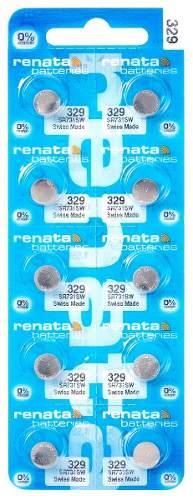 10 Pilha Bateria 329 Relógio 1.55v Renata Sr731sw Original - 01 cartela com 10 unidades