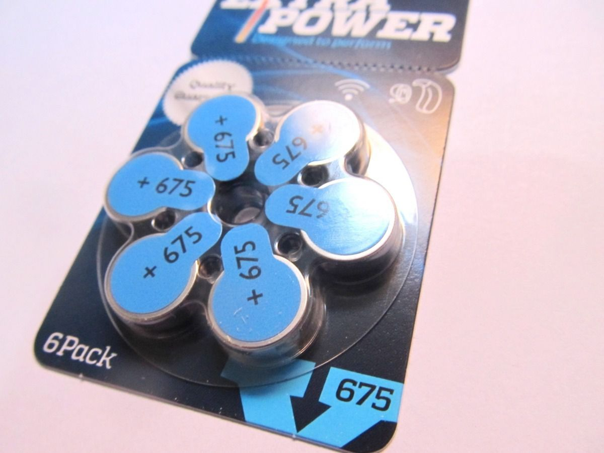 60 Pilhas baterias 675 PR44 Aparelho auditivo EXTRA POWER