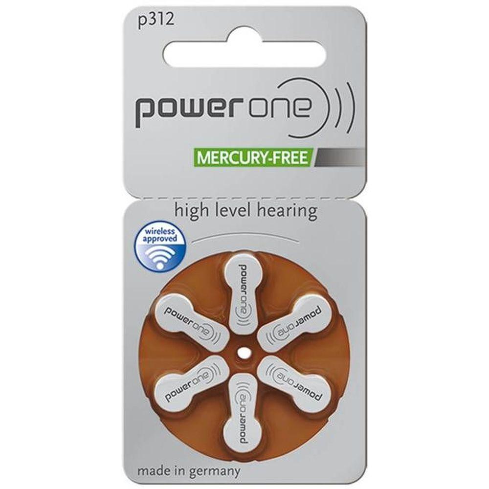 60 Pilhas Baterias P 312 PR41 Aparelho Auditivo - Power One