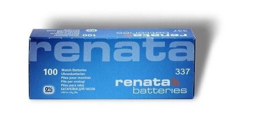 10 Pilha Bateria 337 Relógio 1.55v Renata Sr416s Original - 01 cartela com 10 unidades