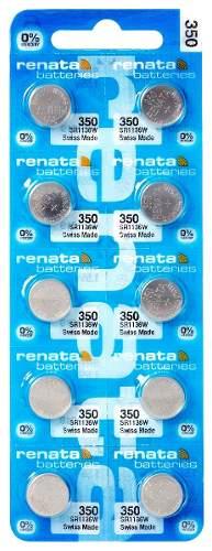 10 Pilha Bateria 350 Relógio 1.55v Renata Original - 01 cartela com 10 unidades