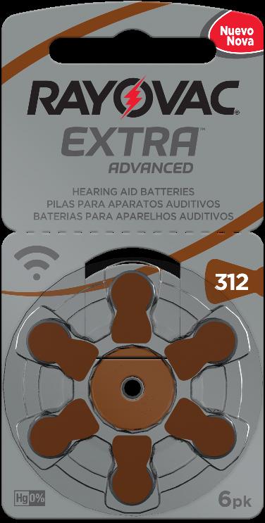 72 Pilhas baterias 312 PR41 Aparelho auditivo RAYOVAC