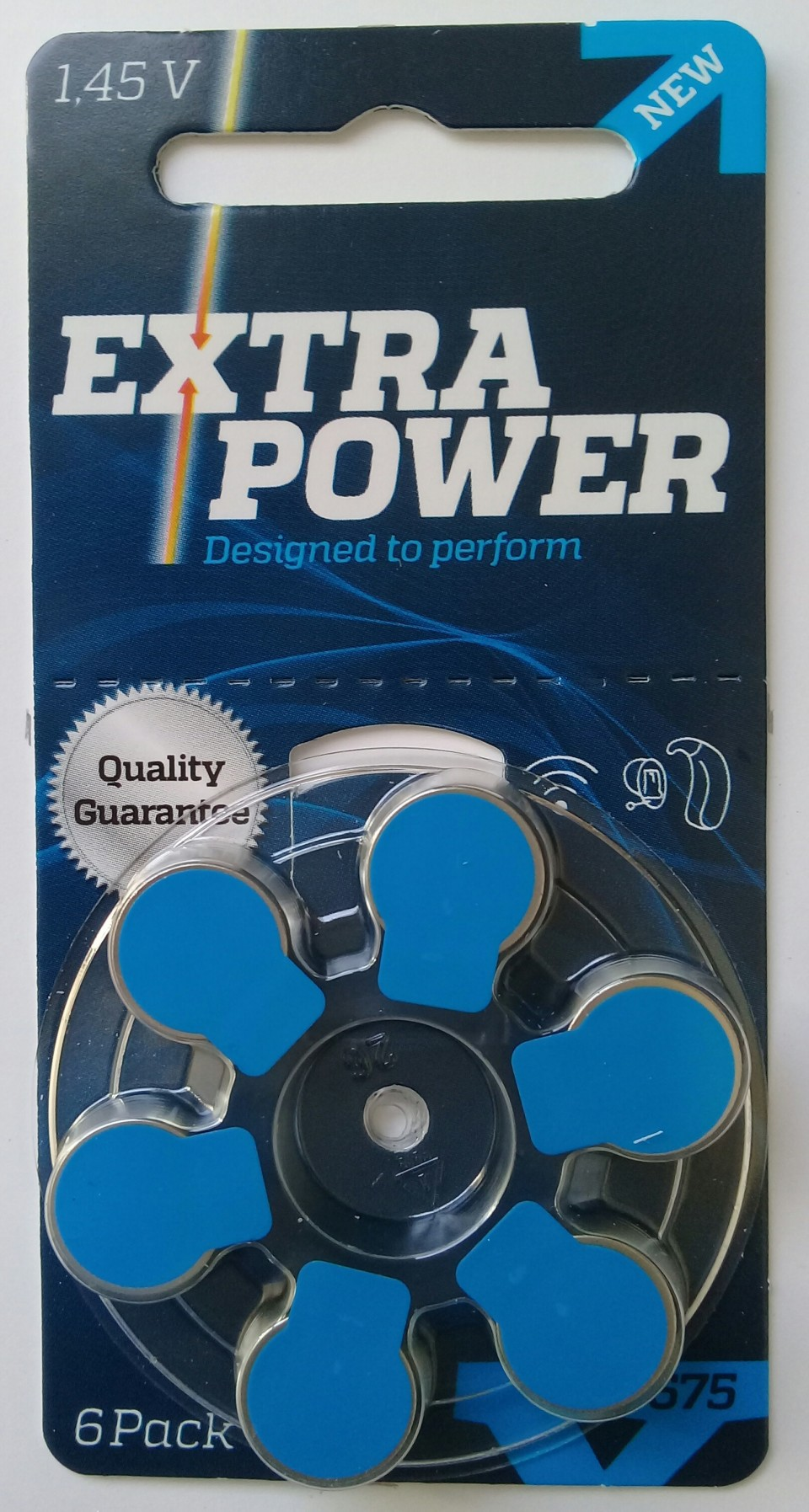 72 Pilhas baterias 675 PR44 Aparelho auditivo EXTRA POWER