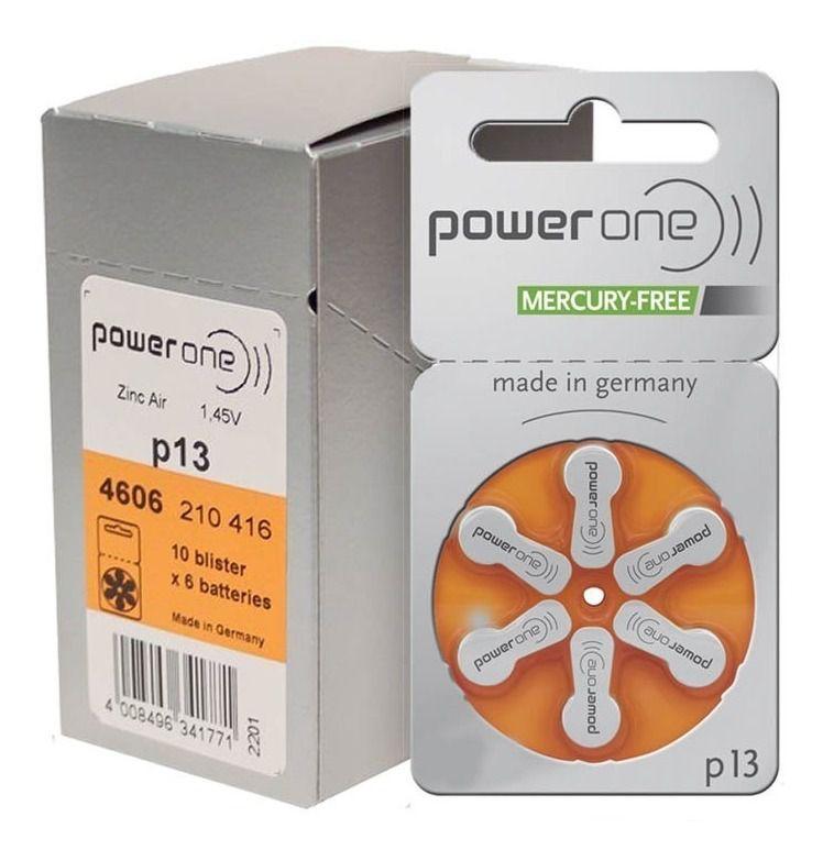 72 Pilhas Baterias P 13 PR48 Aparelho Auditivo - Power One
