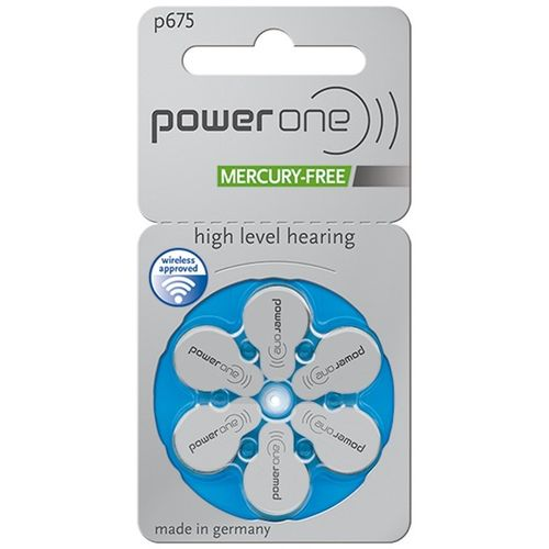 72 Pilhas Baterias P 675 PR44 Aparelho Auditivo - Power One