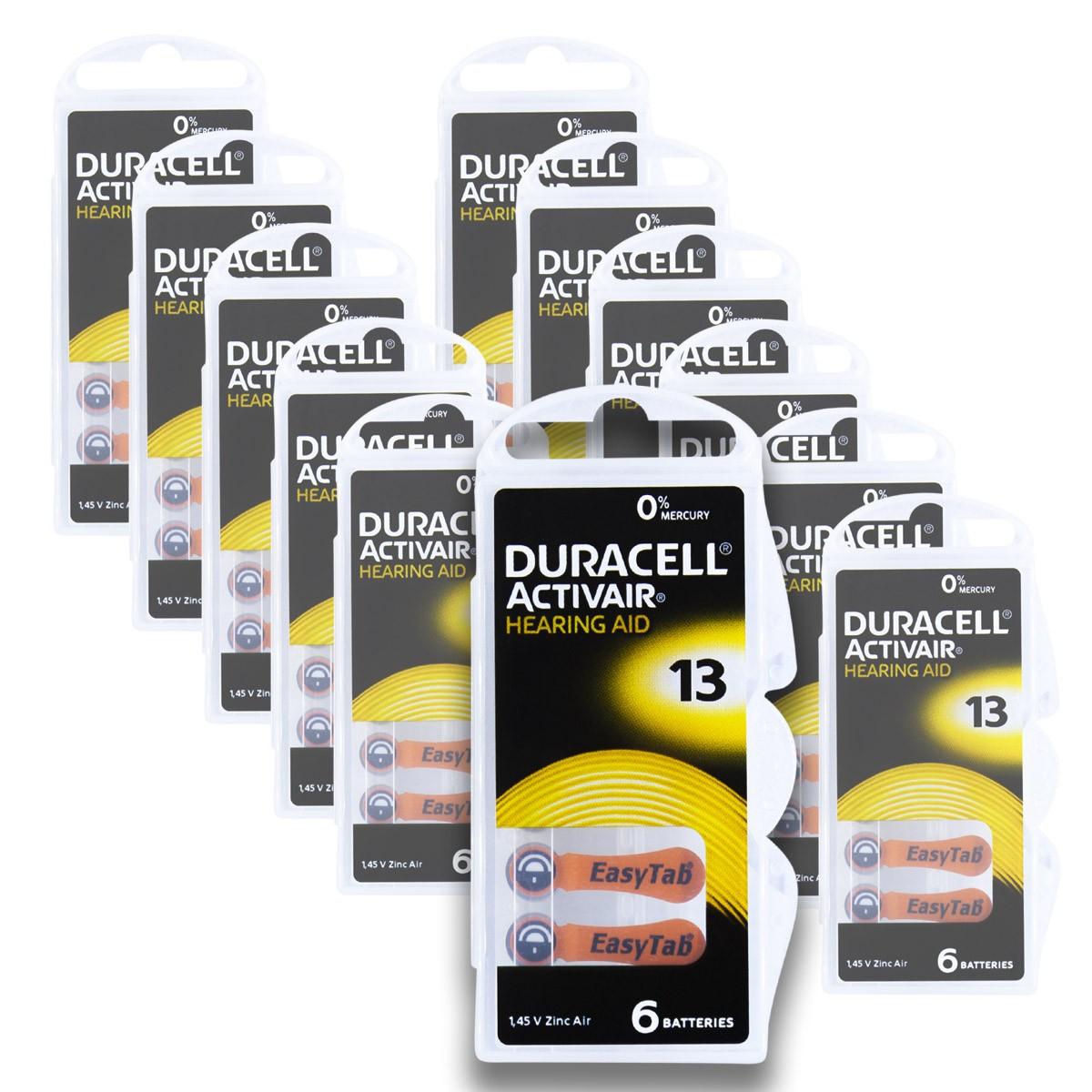 72 Pilhas DA13 DURACELL baterias PR48 Aparelho auditivo
