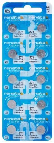 10 Pilha Bateria 371 Relógio 1.55v Renata Sr920s Original - 01 cartela com 10 unidades