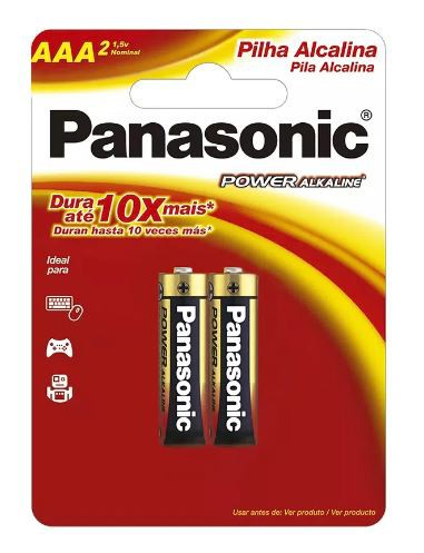 08 Pilhas AAA Alcalina PANASONIC 4 cart c/ 2 unid