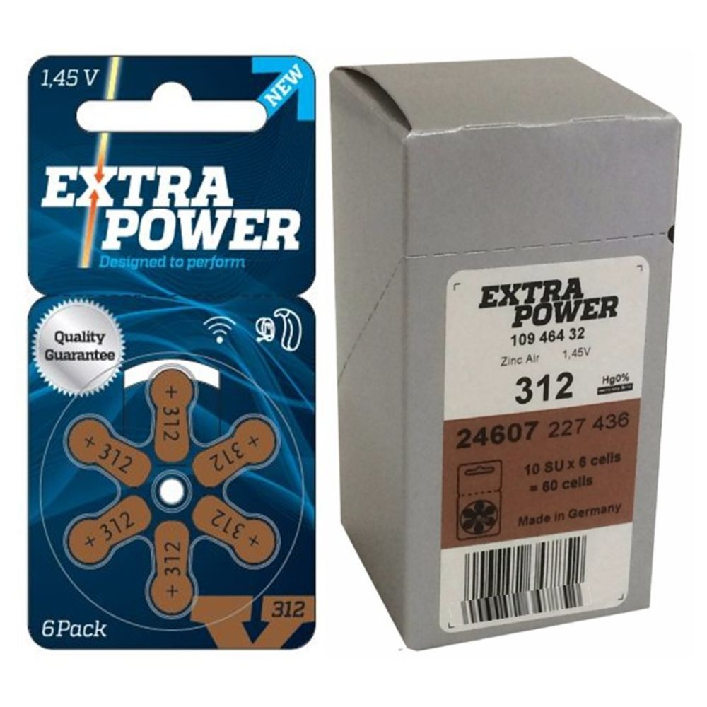 90 Pilhas baterias 312 PR41 Aparelho auditivo EXTRA POWER