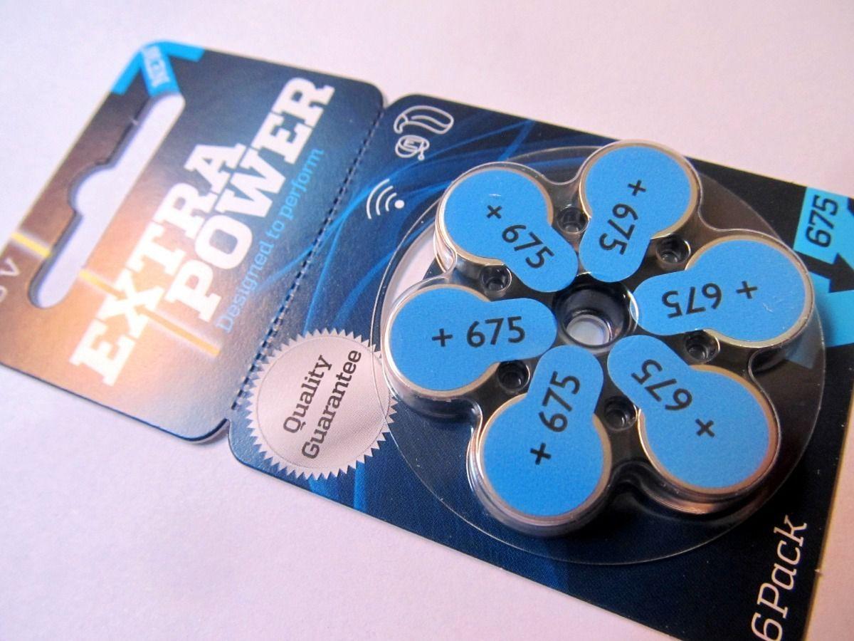90 Pilhas baterias 675 PR44 Aparelho auditivo EXTRA POWER