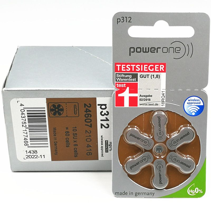 90 Pilhas Baterias P 312 PR41 Aparelho Auditivo - Power One