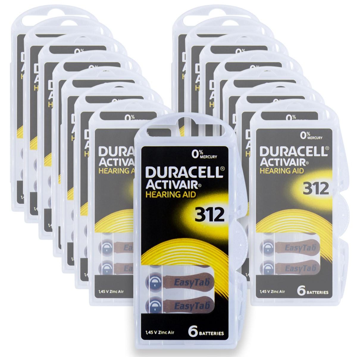 90 Pilhas DA312 DURACELL baterias PR41 Aparelho auditivo