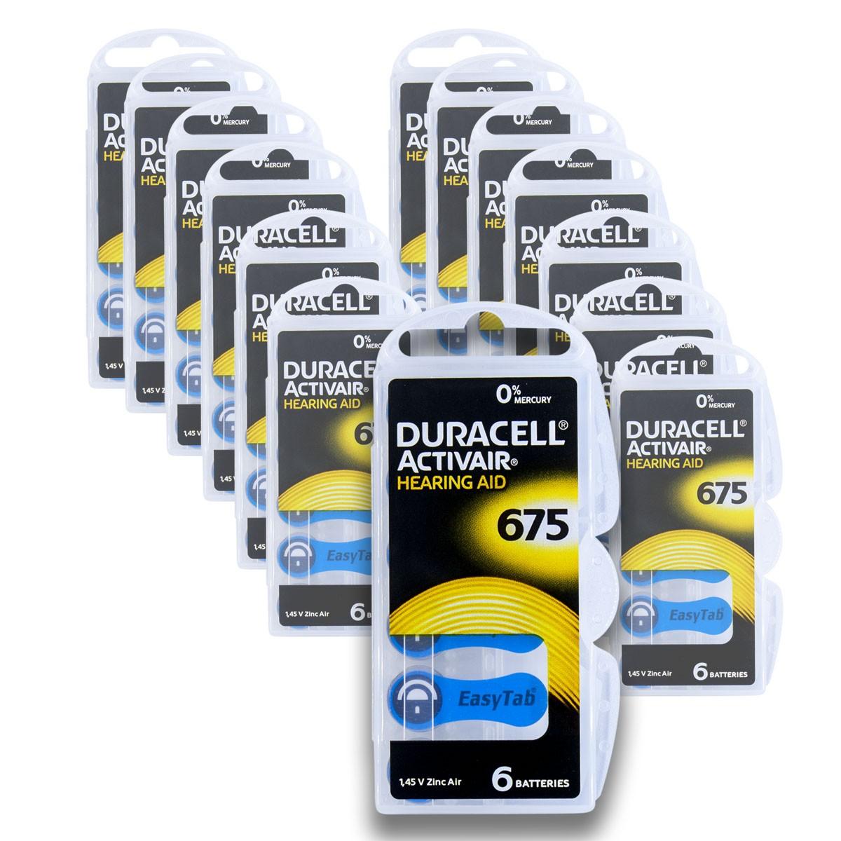 90 Pilhas DA675 DURACELL baterias PR44 Aparelho auditivo