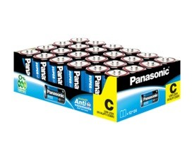 96 Pilhas C Zinco Carvão PANASONIC 4 bandejas
