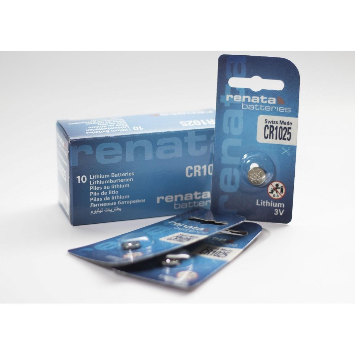 10 Baterias Pilhas Lithium Renata CR1025 - 01 caixa com 10 unidades