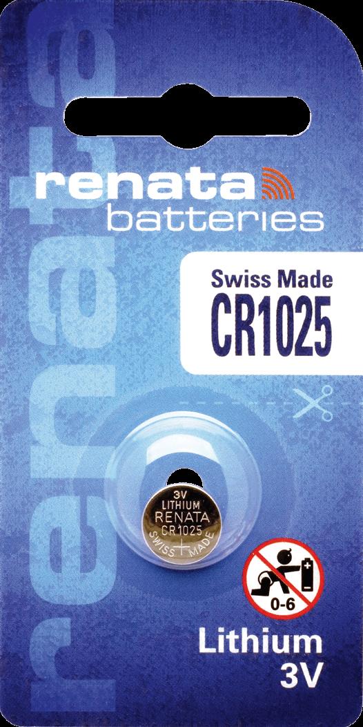 10 Baterias Pilhas de Lítio Renata CR1025 - 01 caixa