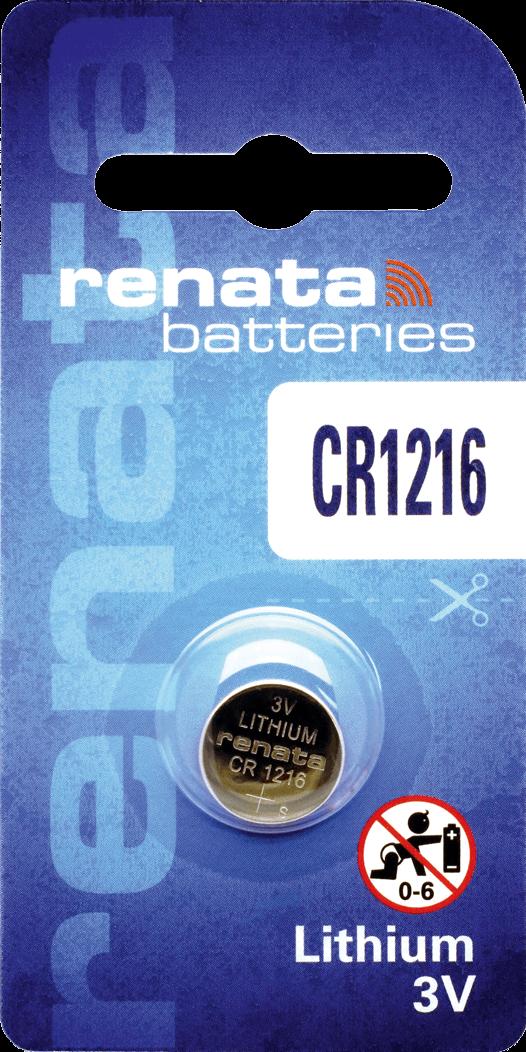 10 Baterias Pilhas Lithium Renata CR1216 - 01 caixa com 10 unidades